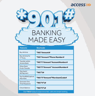 Codes to transfer, check balance and buy data on Access Bank Mobile