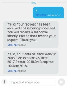 MTN Data 1 Gb Plan