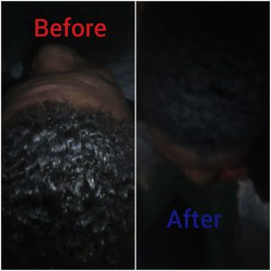 Reduce effects of hair relaxer with toothpaste