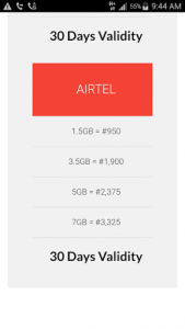 AIRTEL data reselling business