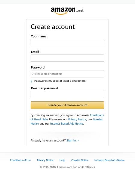 Create Amazon Account