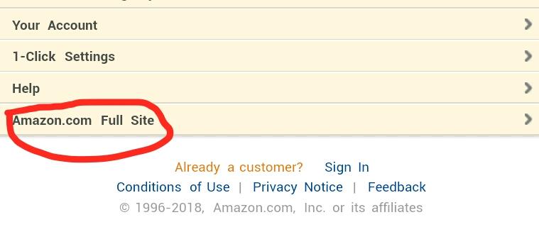 Amazon Full Site