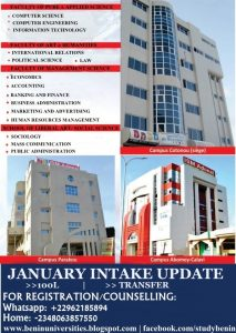 Benin Republic Accredited Universitie