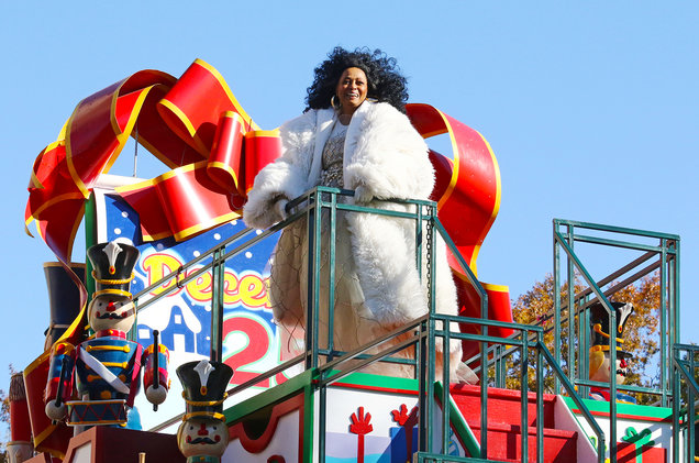 Diana Ross at the 92nd Annual Macy's Thanksgiving Day Parade on Nov. 22, 2018 in New York City