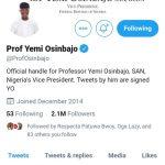 Prof Yemi Osinbajo's Twitter Account
