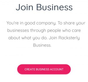 Racksterly Sign Up - Getting Started