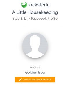 Racksterly - Adding Facebook Profile