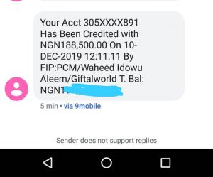 GiftalWorld Payment Alert