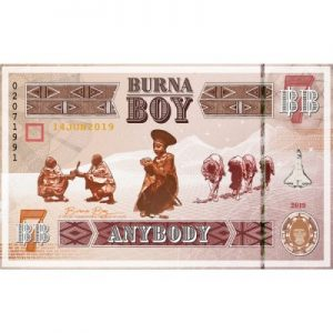 Burna Boy Anybody Artwork