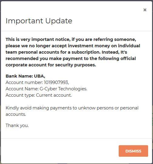 Myazacash Cooporate Bank Account Details